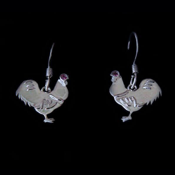 Cockerel Dangly Earrings