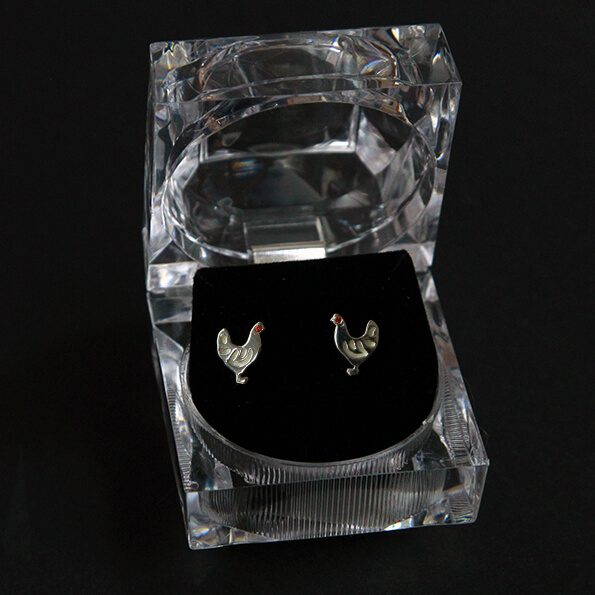 Stud Hen Earrings
