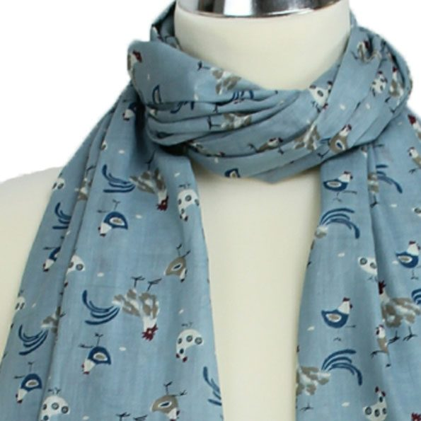 Duck Egg Blue Chicken Scarf