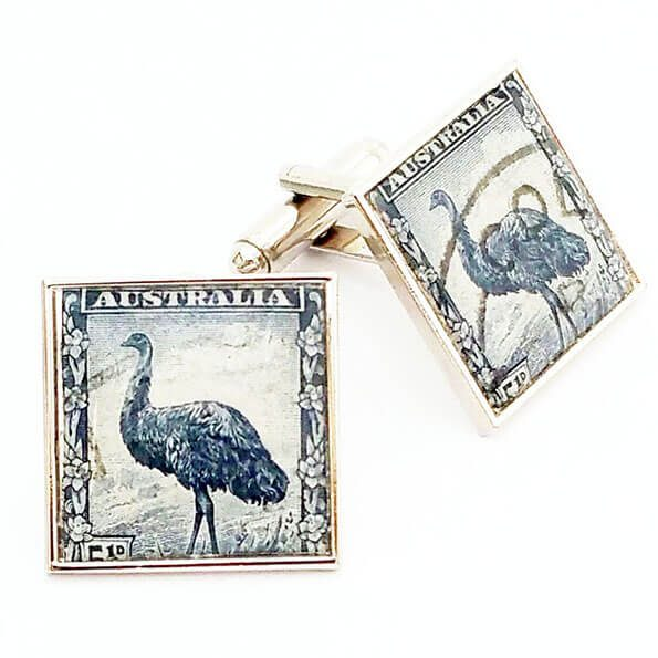 Australian Emu Stamp Cuff Links