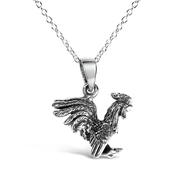3D flying Cockerel Necklace